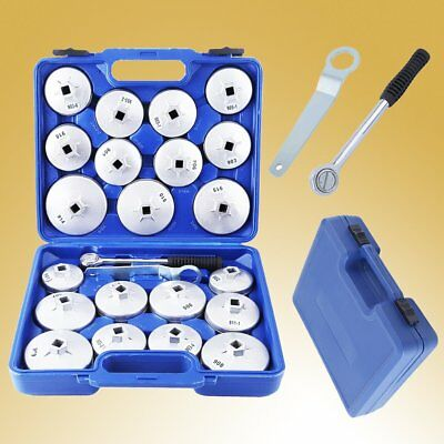23Pcs Aluminium Cup Type Oil Filter Wrench Housing Removal Socket Remover Tool X