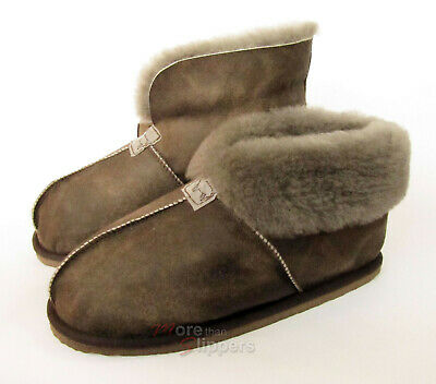 fdb072c268e SHEPHERD LADIES SHEEPSKIN Slipper Hard Sole - Lina - Oiled Antique ...