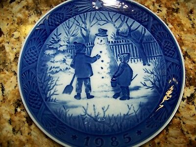 Mint Christmas Plate 1985 Royal Copenhagen The Snowman Denmark