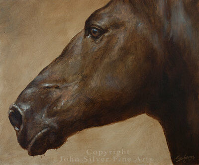 HORSE PORTRAIT ORIGINAL CLASSIC OIL PAINTING by Award Winning Artist JOHN SILVER