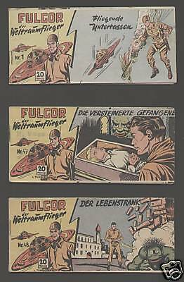 Fulgor Piccolo 1-48 komplett 1953 Lehning-Verlag Originalhefte Science-Fiction
