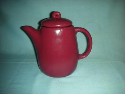 Vintage Bybee Pottery signed BB Red/Maroon/Plum Coffee Pot or teapot