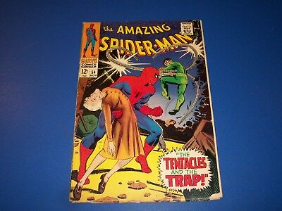 Amazing Spider-man #54 Silver Age Doc Ock  Solid Comic