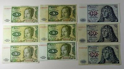 Lot Of 9 - Federal Republic Of Germany  - Vf/xf