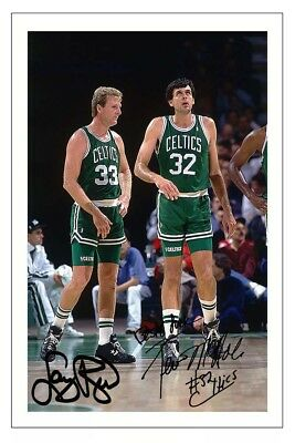 LARRY BIRD & KEVIN McHALE BOSTON CELTICS AUTOGRAPH SIGNED PHOTO PRINT BASKETBALL