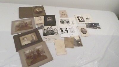 Assorted Lot of Vintage Cabinet & Other Photos