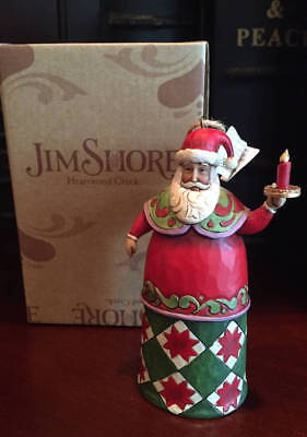 ~Jim Shore Santa with Candle Ornament NEW~