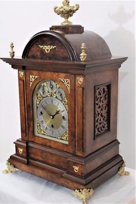 Triple Fusee Bracket Clock Eight Bell Five Gong Westminster Whittington Repeat