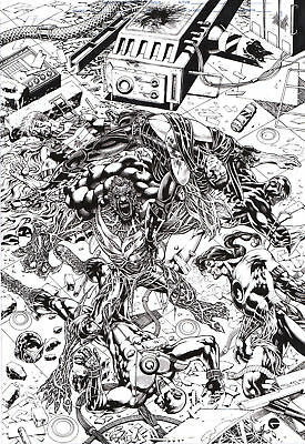 Goldman WORLD WIDE WARRIORS 1 COVER B - FIRST ISSUE HERO TEAM COVER BY DC ARTIST