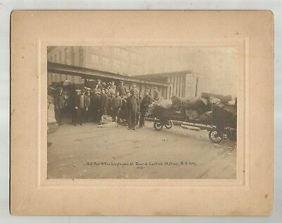 1913 Grand Central Station U.S. Post Office Employees Cabinet Photo Baggage Car