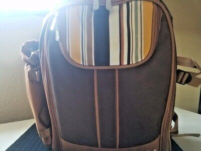 Ferlin Picnic Backpack for 4 With Cooler Compartment Detachable Bottle/Wine READ