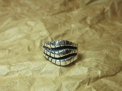 925 Sterling Silver  Celtic RING  sz  6.5   Wide Band Ring Tribal  Snake  Unisex