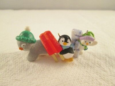 Hallmark Miniature Ornament 2016 A TASTY TREAT Petite Penguins FUN Snowman