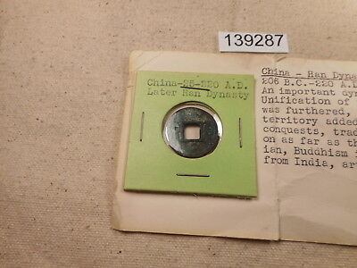 25-220 AD China Later Han Dynasty Cash Coin Nice Collector Grade - # 139287