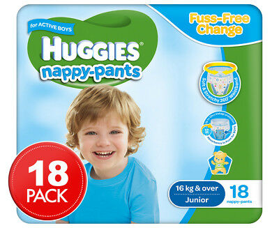 Huggies Nappy Pants For Boys Junior 15kg+ 18pk