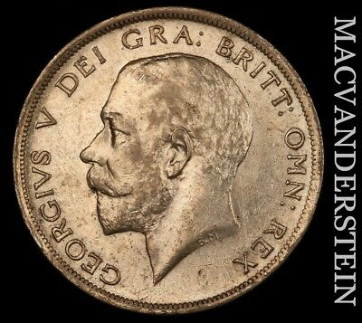 Great Britain: 1916 Half Crown- No Reserve !! Scarce !! High Grade !!  #v2496