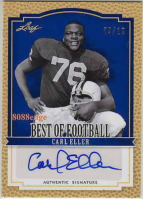 2012 Leaf Best Of Football Auto: Carl Eller #9/10 Autograph Vikings Hall Of Fame