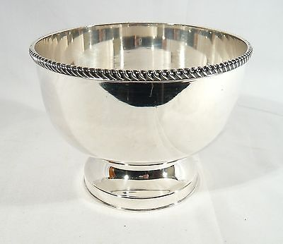 Antique Ellis BARKER SILVER Pedestal Mayonnaise / Sauce Bowl FOOTED HEAVY DISH