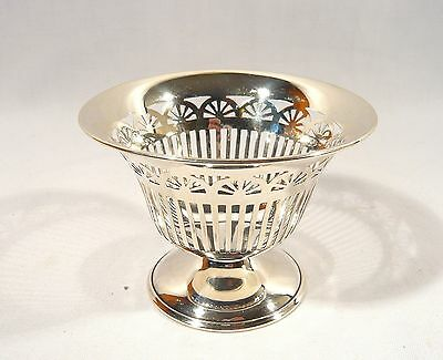 "Vintage 1927  Mappin & Webb STERLING SILVER 3.5"" Pedestal Candy / Nut Dish 84 g"