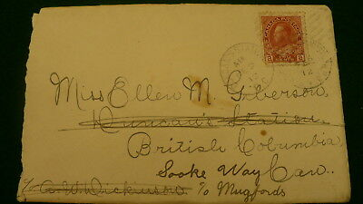 Canada obsolete cancellation envelope Duncan's Station BC Vancouver Island  P331