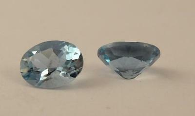 ***natural Loose 2.30Ct Pair Of Oval Cut Aquamarine Stones***