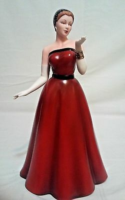 Homco Home Interiors Rising Star Lady Woman in Red Dress Figurine #12665-05