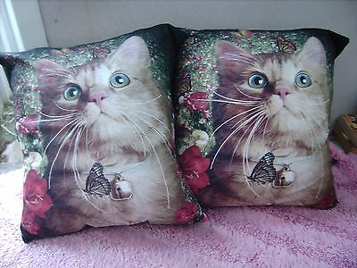 Cat   /    Kittens        One Pair Of Cushion 40  Cm / 16 Inches