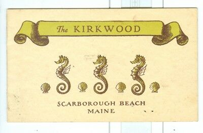 Early 1900 The Kirkwood Hotel Scarborough Beach, Maine
