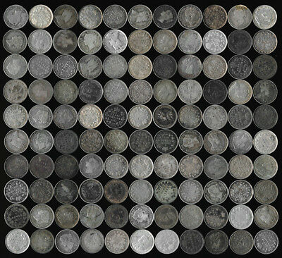 110 Canada Silver Five Cents (Big Lot Many Collectibles) No Reserve