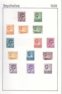 Seychelles Collection. George Vi To 75 Cents.