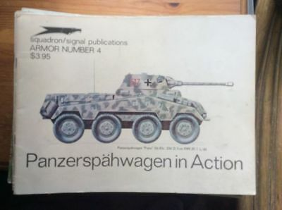 Squadron Signal Armor - No 4  -  Panzerrspahwagen  In Action - Pb