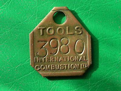 International Combustion Sinfin Derby brass tool check pay token tally engineer