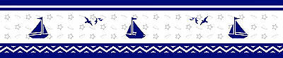 GEENNY Nautical Explorer Sailor Peel Stick Wall Border 6 in. x 15 ft per Roll