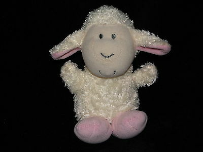 Chad Valley Lamb Soft Toy Cream White Pink Comforter Doudou