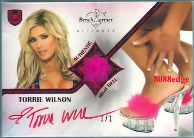 2010 Benchwarmer Ultimate High Heel Auto: Torrie Wilson #1/1 Of Red Autograph