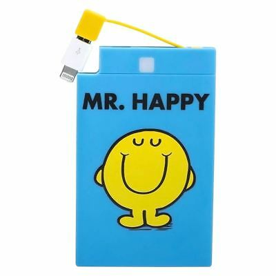 Officially Licensed Mr. Men 2500mAh Powerbank - Mr. Happy New