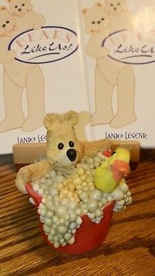 Land of Legend Cub Club Hap Henriksen 'Splish Splash' Bear Ornament 1992