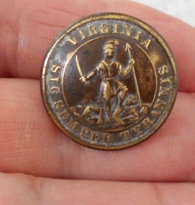 Antique/vintage Early Virginia Military Button  #563