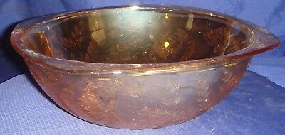 RP1408 Vtg Carnival Glass Fruit Serving Bowl Dish