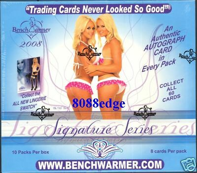2008 Benchwarmer Signature Series Factory Sealed Hobby Box ! 10+ Auto/Hits Per
