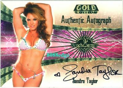2007 Benchwarmer Gold Auto: Sandra Taylor #15 Of 30 Autograph Playboy Playmate