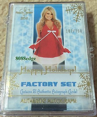 2011 Benchwarmer Holiday Factory Sealed Box Set #/750 -22 Autograph/Auto Per Set