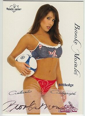 2005 Benchwarmer Signature Series Auto: Brooke Morales #11 Black Autograph