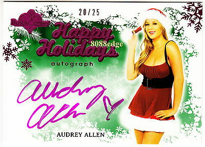 2013 Benchwarmer Holiday Auto: Audrey Allen #20/25 Autograph Playboy Playmate