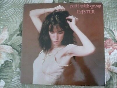 Lot Patti Smith Group Easter Lp Vinyl Album Vg+ Classic Rock Record Punk Insert