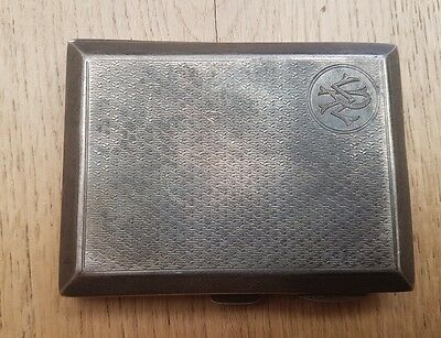 SILVER CIGARETTE CASE BIRMINGHAM 1923 MAKER SB & SL LTD WEIGHT 81.6g