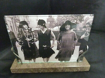 "Original French Chrome and Marble Art Deco Photo Frame, c1930's (7"" x 5"")"