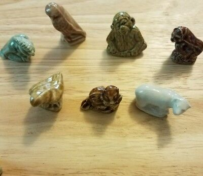 Lot Of 7 Wade England Red Rose Tea Figurines