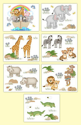 Noahs Ark Nursery Wall Art Prints Baby Boy Girl Safari Jungle Zoo Animals Decor