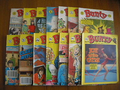 14 x BUNTY PICTURE STORY LIBRARY COMICS - 1986 to 1991